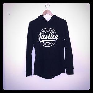 Black justice hoodie